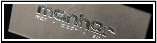 Metallic Colour Foil Business Cards